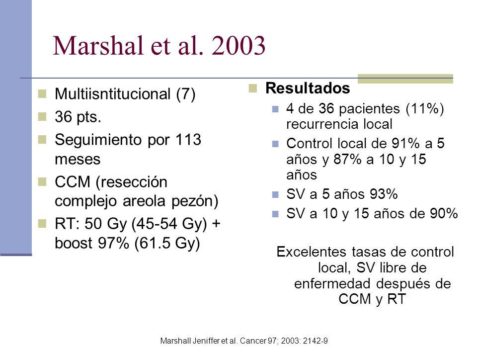 Marshall Jeniffer et al. Cancer 97; 2003: 2142-9