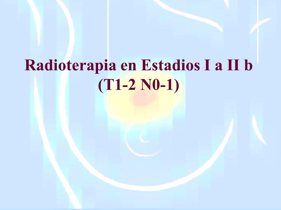 Radioterapia en Estadios I a II b (T1-2 N0-1)