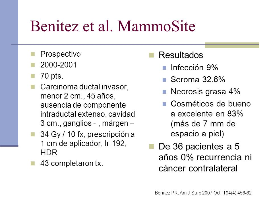 Benitez et al. MammoSite