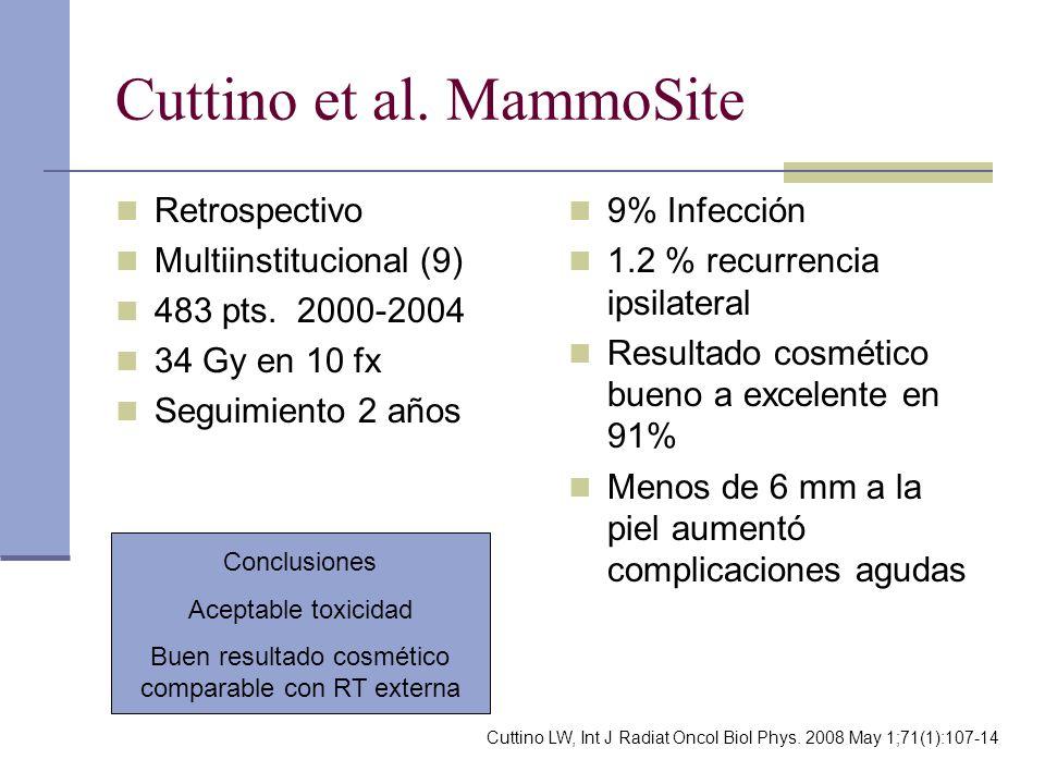 Cuttino et al. MammoSite