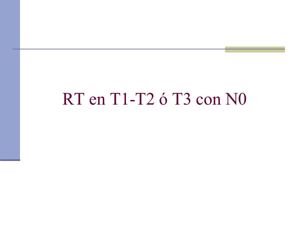 RT en T1-T2 ó T3 con N0