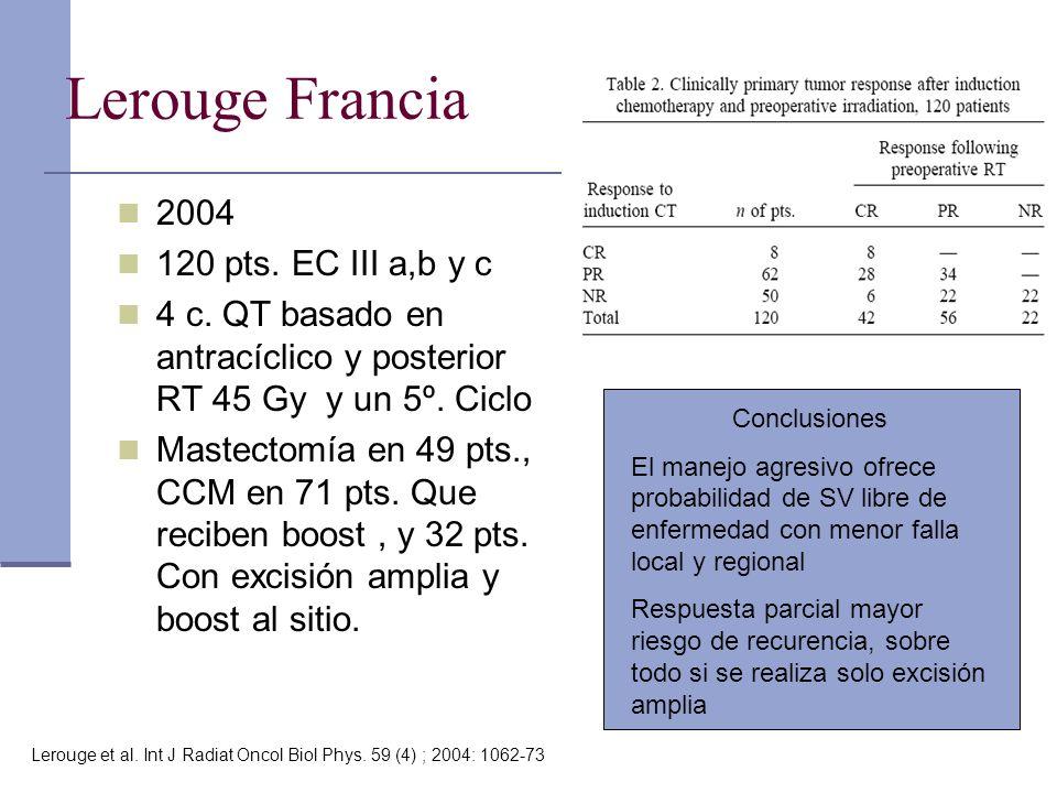 Lerouge Francia 2004 120 pts. EC III a,b y c