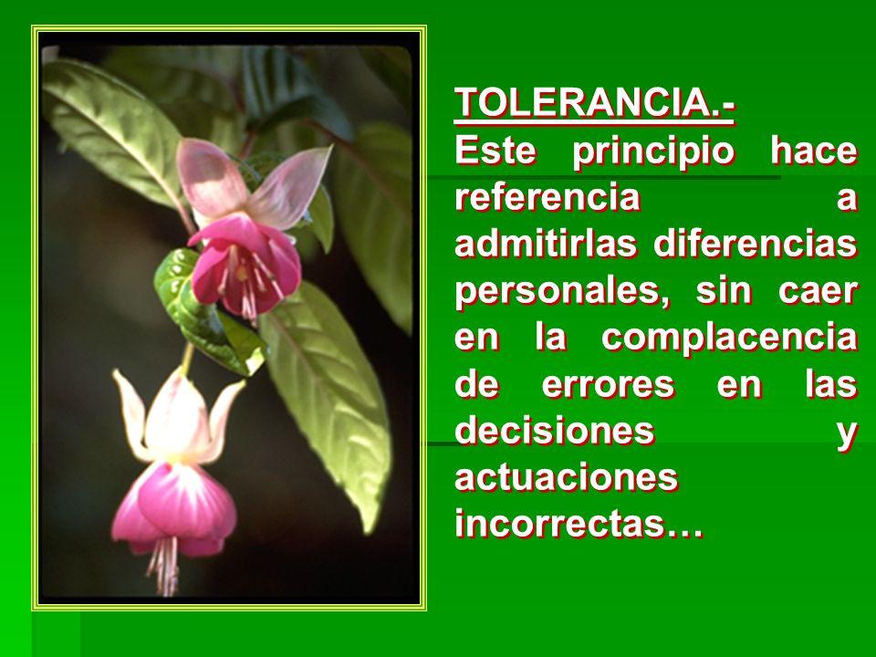 TOLERANCIA.-