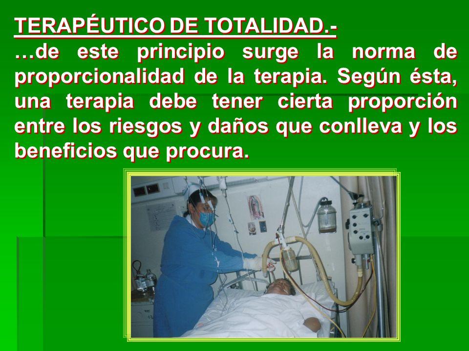 TERAPÉUTICO DE TOTALIDAD.-