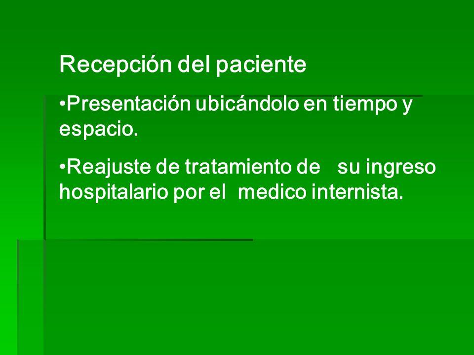 Recepción del paciente