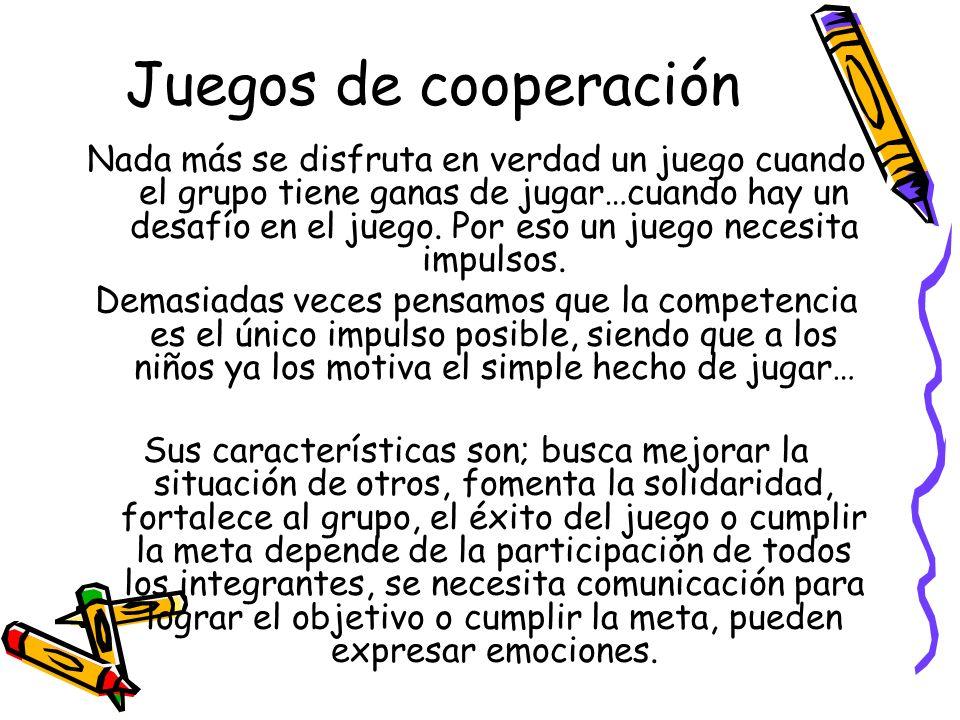 Juegos de cooperación