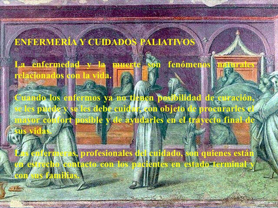 ENFERMERÍA Y CUIDADOS PALIATIVOS