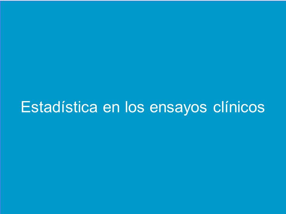 Estadística en los ensayos clínicos