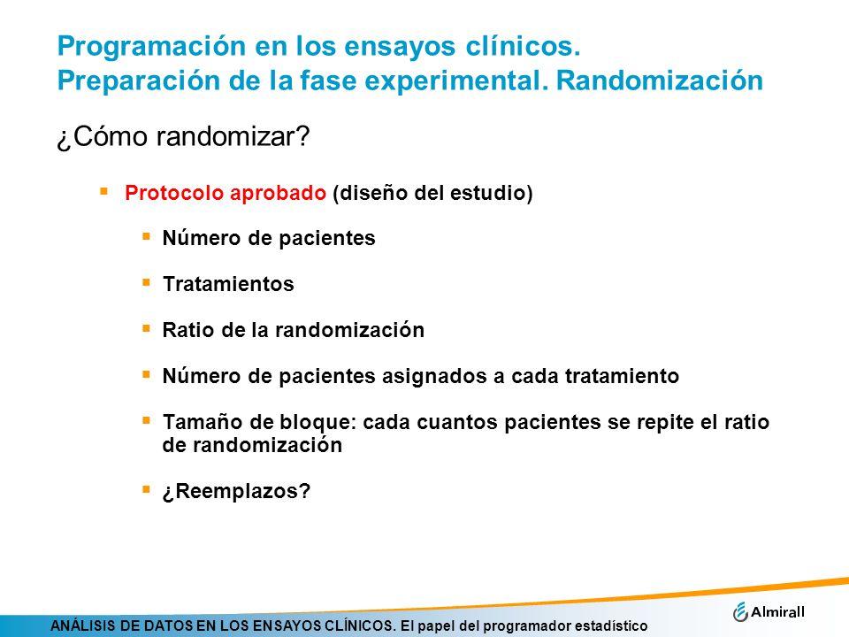 Programación en los ensayos clínicos