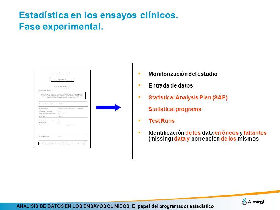Estadística en los ensayos clínicos. Fase experimental.
