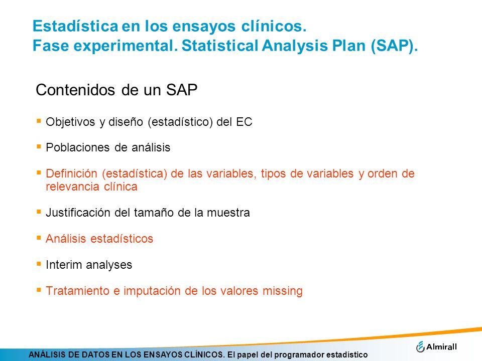 Estadística en los ensayos clínicos. Fase experimental
