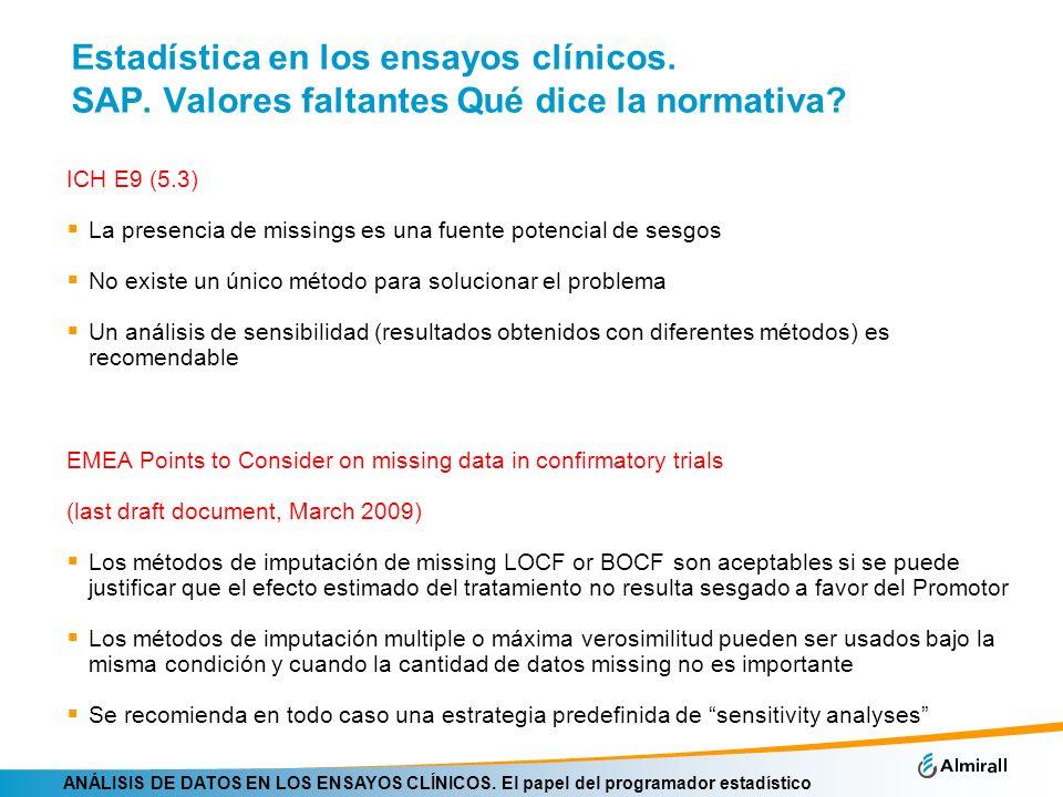 Estadística en los ensayos clínicos. SAP