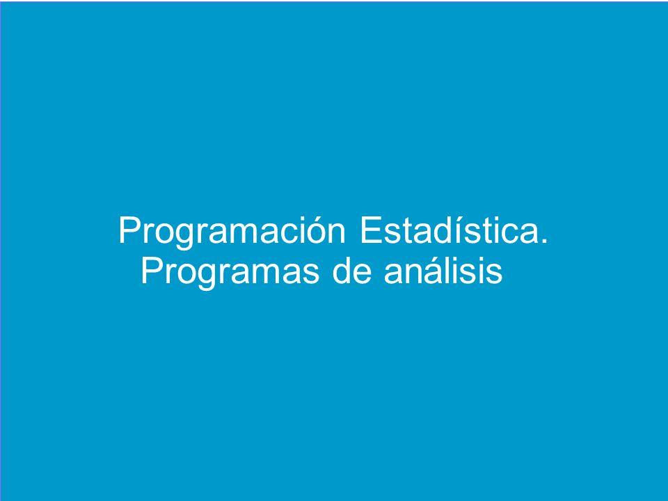 Programación Estadística.