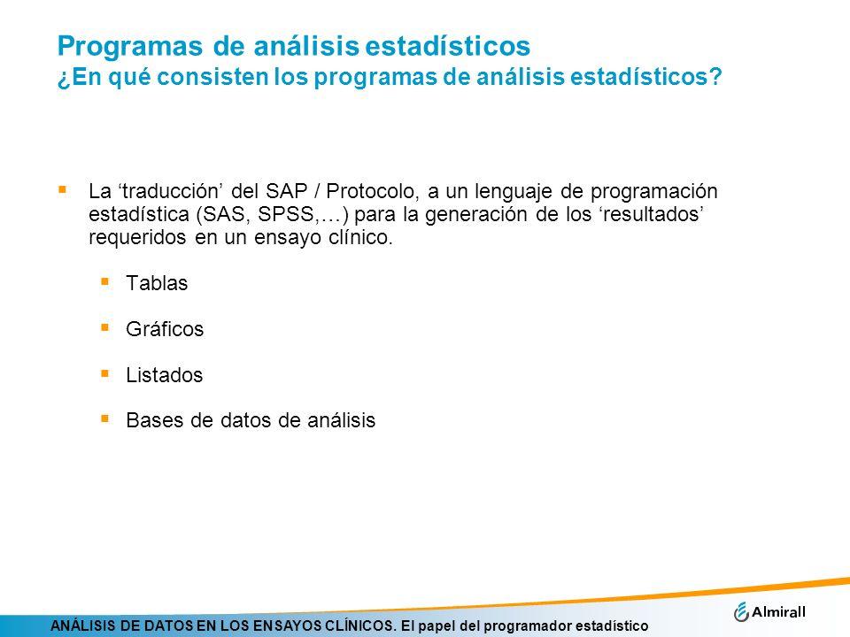 Programas de análisis estadísticos ¿En qué consisten los programas de análisis estadísticos