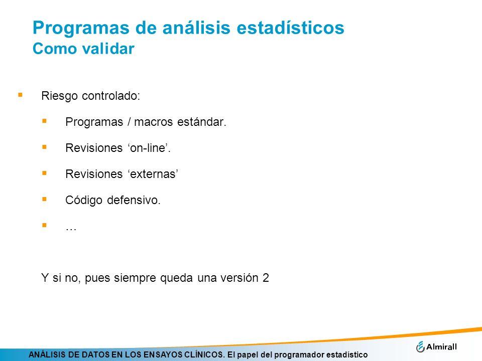 Programas de análisis estadísticos Como validar