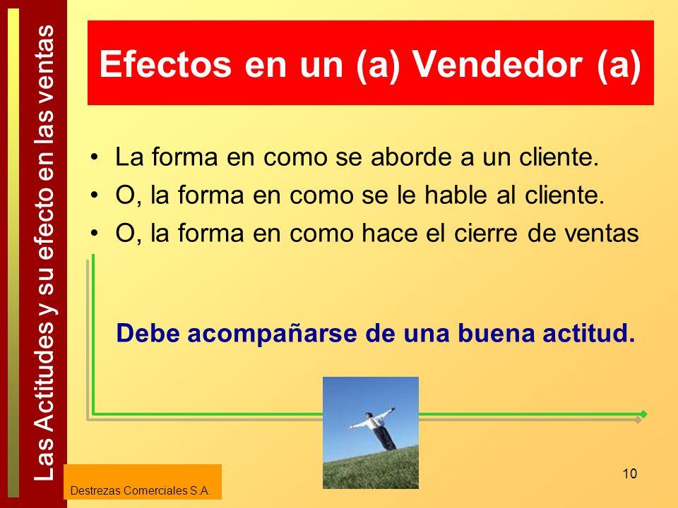 Efectos en un (a) Vendedor (a)