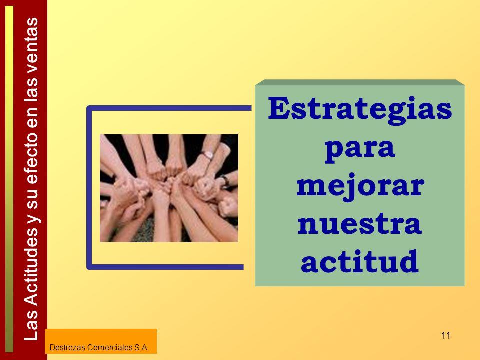 Estrategias para mejorar nuestra actitud