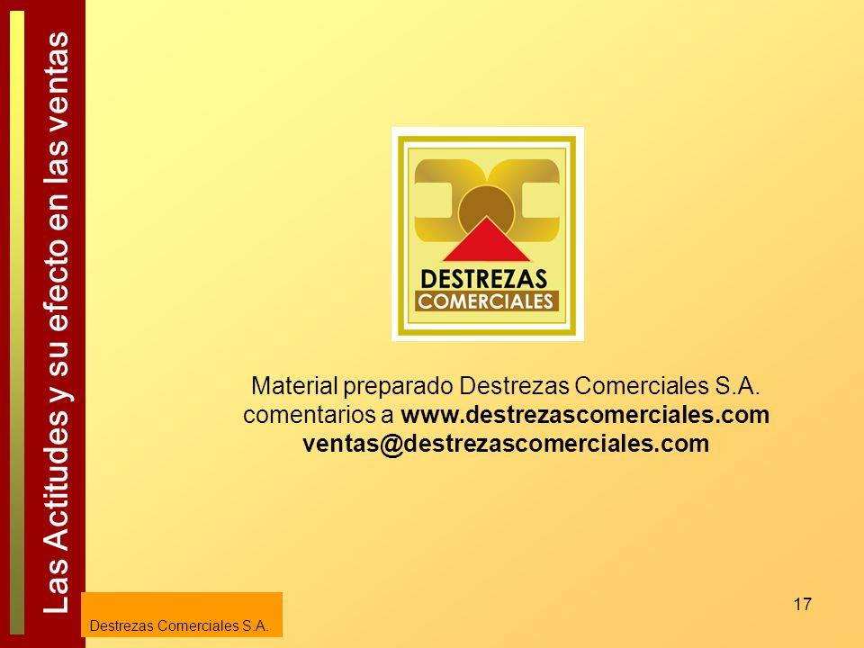 Material preparado Destrezas Comerciales S. A. comentarios a www