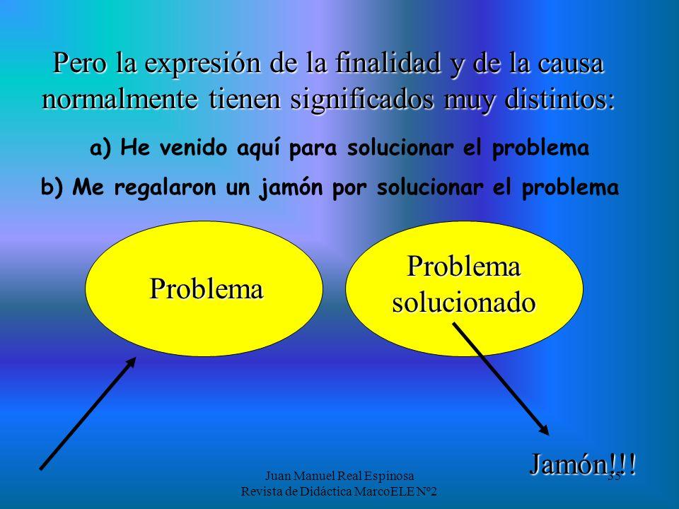 a) He venido aquí para solucionar el problema