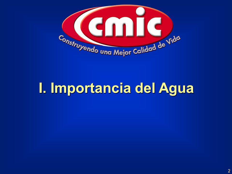 I. Importancia del Agua