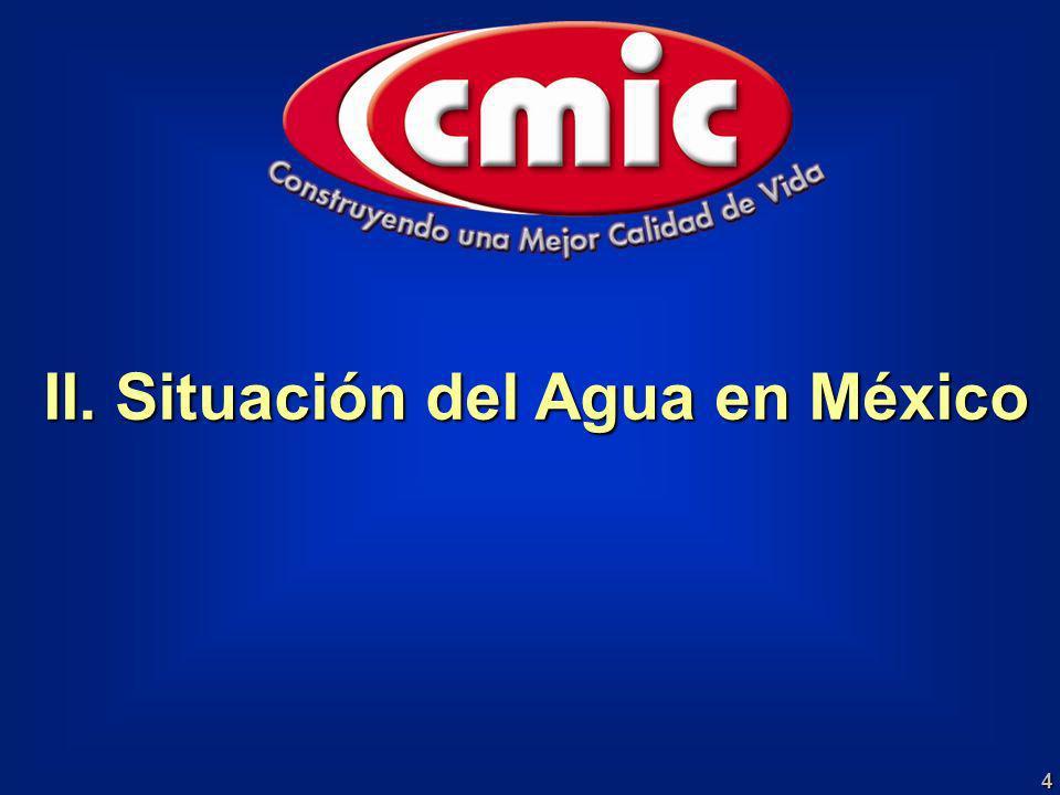 II. Situación del Agua en México