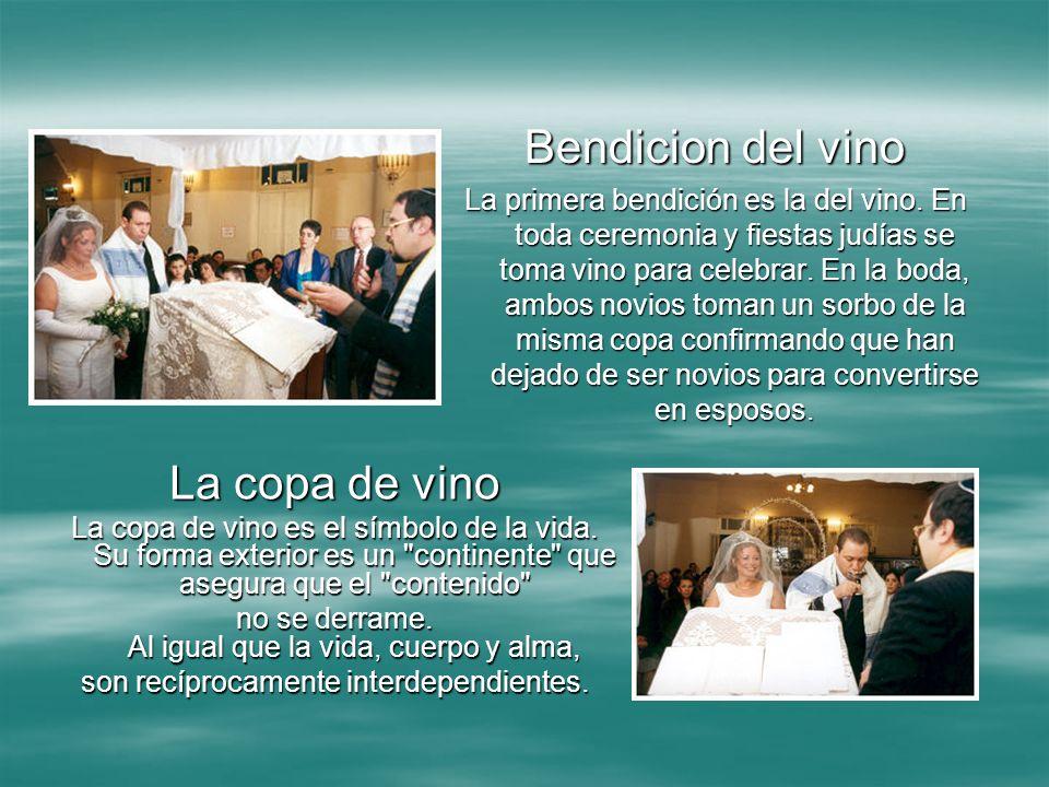 Bendicion del vino La copa de vino