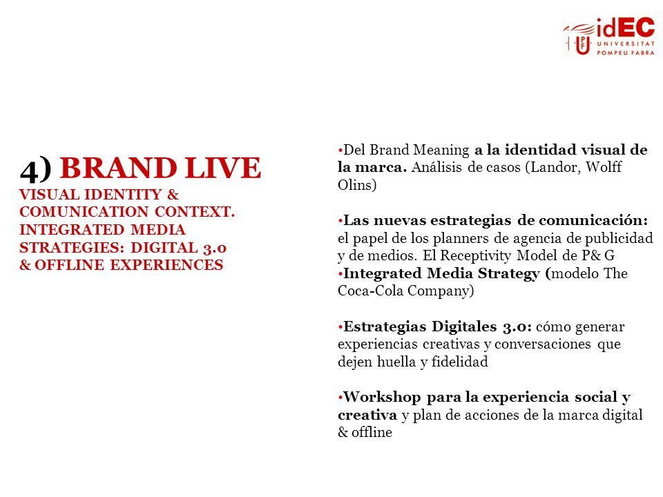 Del Brand Meaning a la identidad visual de la marca