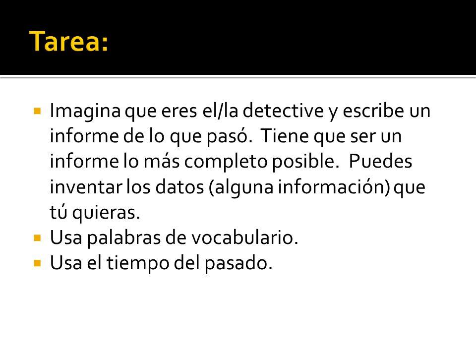 Tarea: