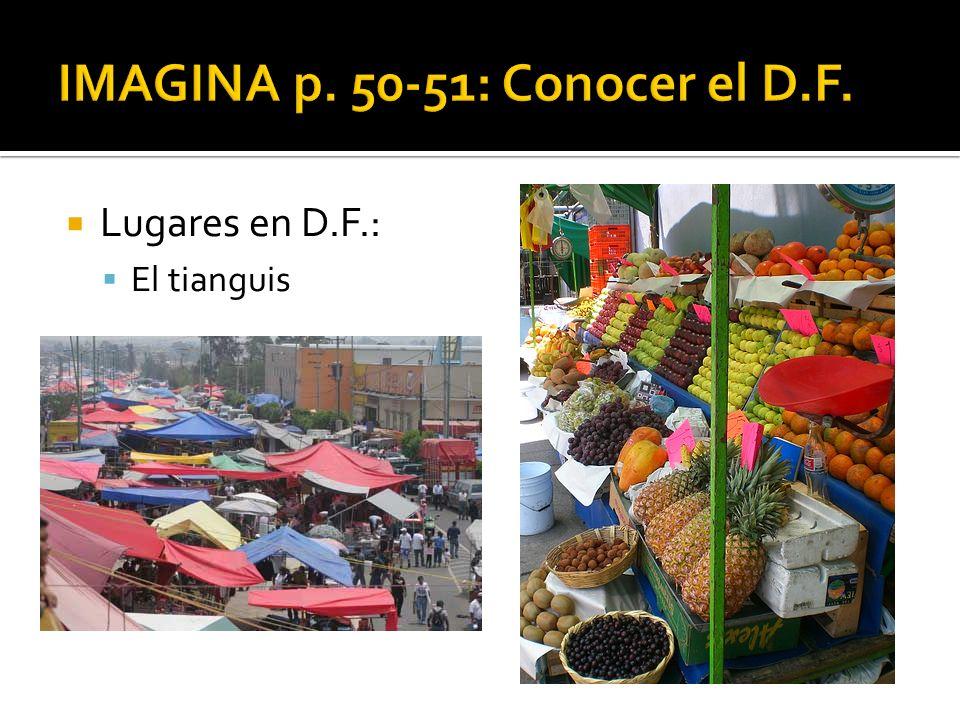 IMAGINA p. 50-51: Conocer el D.F.