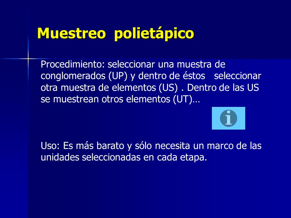 Muestreo polietápico