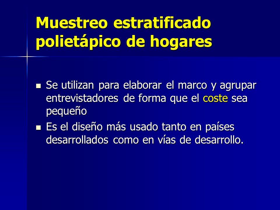 Muestreo estratificado polietápico de hogares
