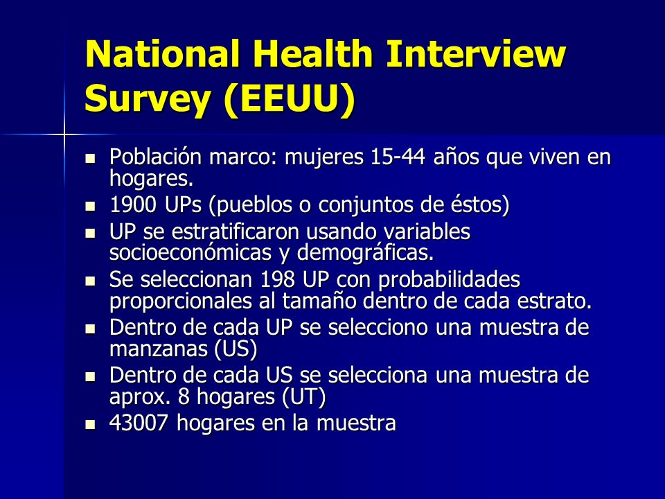 National Health Interview Survey (EEUU)