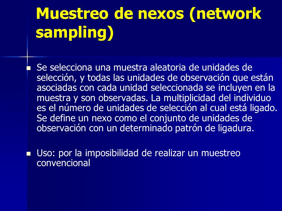 Muestreo de nexos (network sampling)