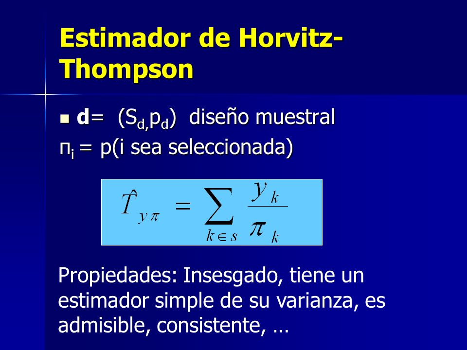 Estimador de Horvitz-Thompson
