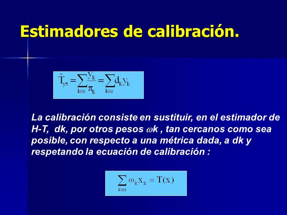 Estimadores de calibración.