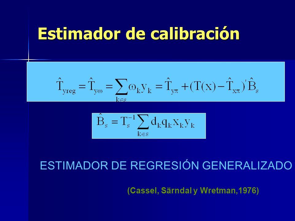 Estimador de calibración