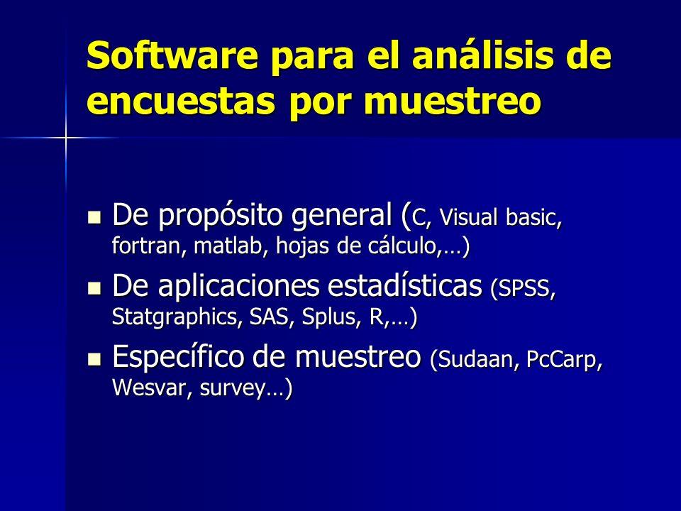 Software para el análisis de encuestas por muestreo