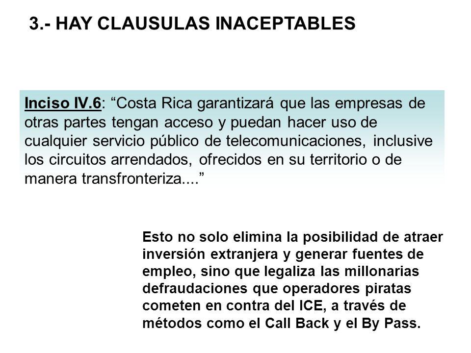 3.- HAY CLAUSULAS INACEPTABLES