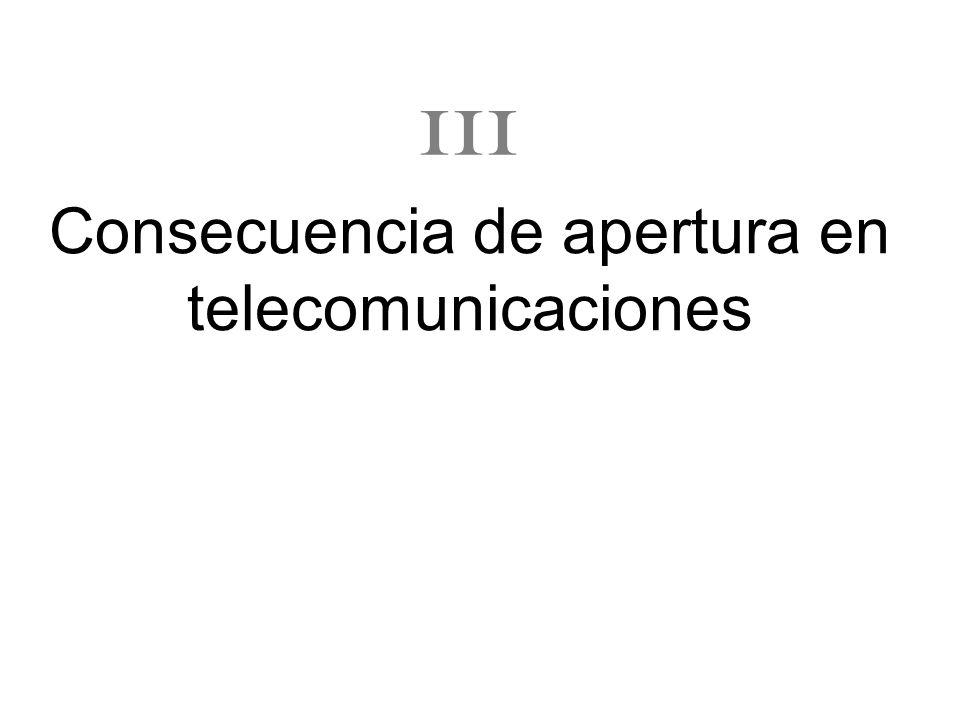 Consecuencia de apertura en telecomunicaciones