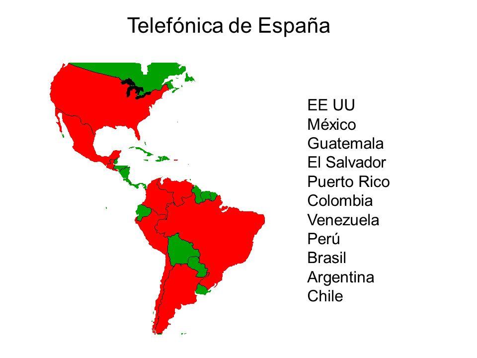 Telefónica de España EE UU México Guatemala El Salvador Puerto Rico