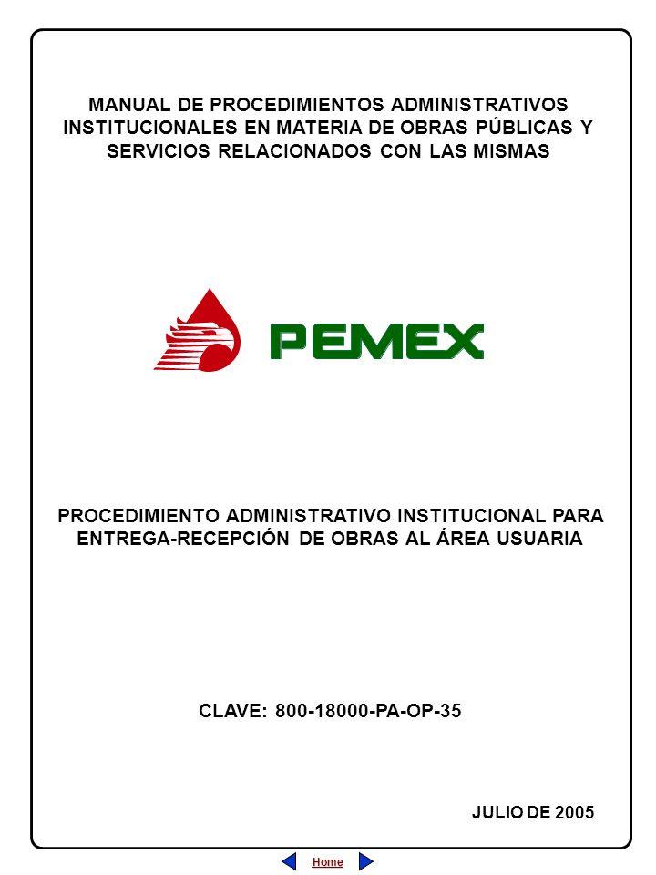 MANUAL DE PROCEDIMIENTOS ADMINISTRATIVOS INSTITUCIONALES EN MATERIA DE OBRAS PÚBLICAS Y SERVICIOS RELACIONADOS CON LAS MISMAS