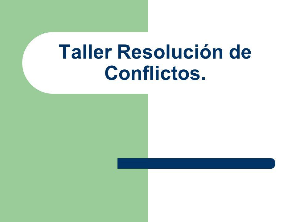 Taller Resolución de Conflictos.