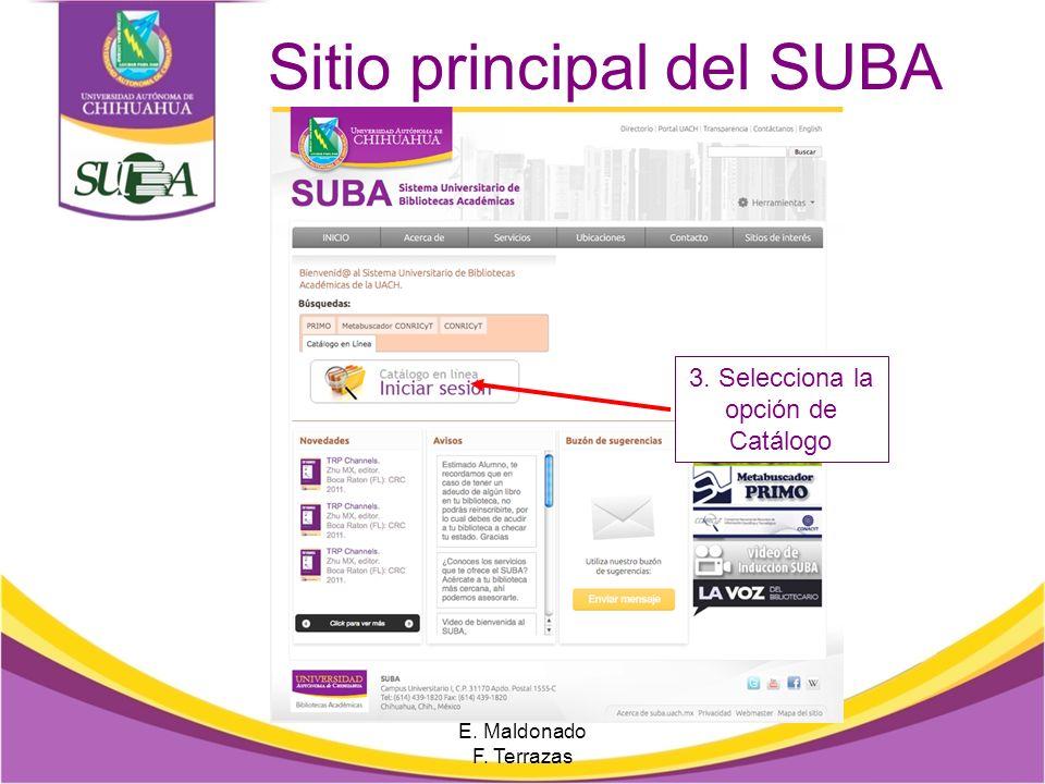 Sitio principal del SUBA