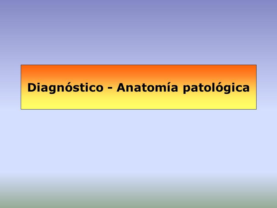 Diagnóstico - Anatomía patológica