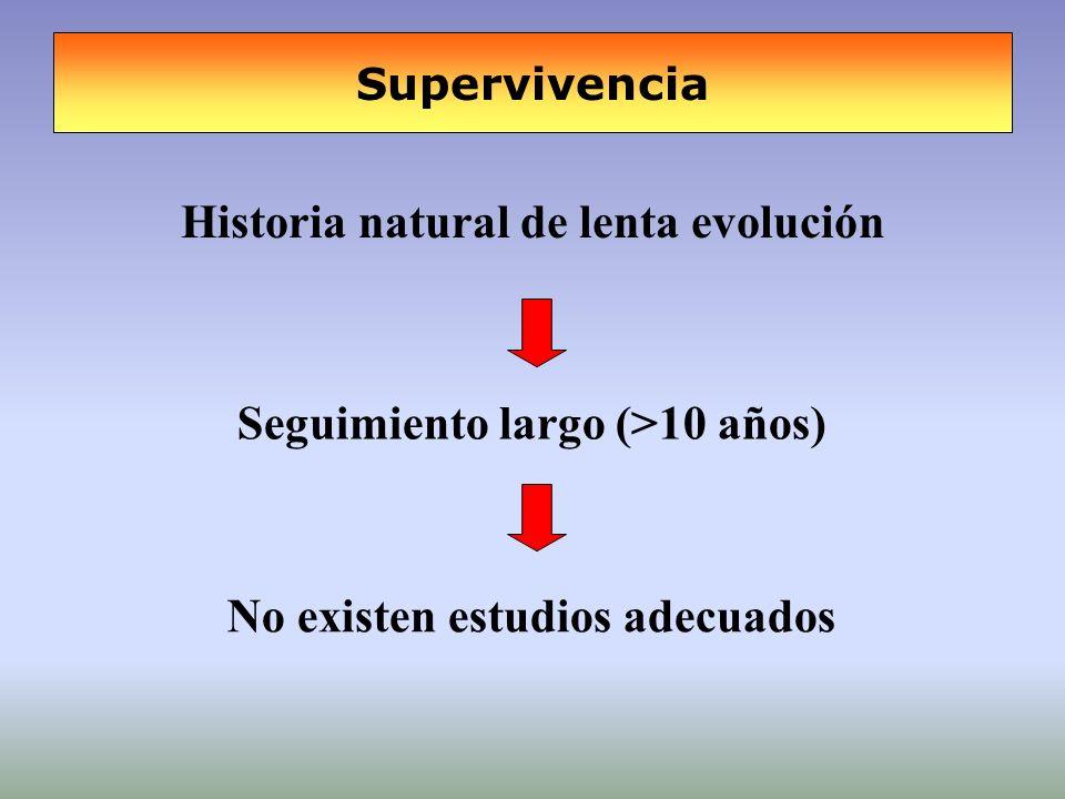Historia natural de lenta evolución