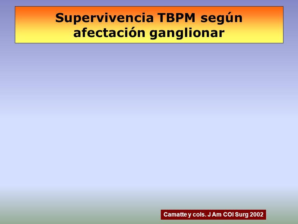 Supervivencia TBPM según afectación ganglionar