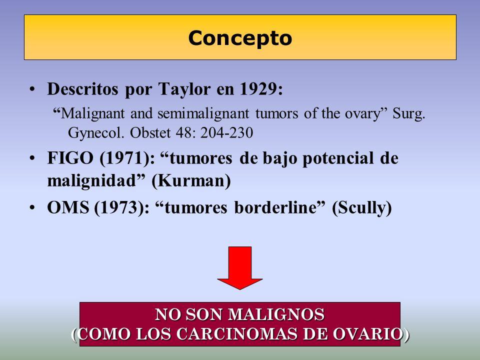 (COMO LOS CARCINOMAS DE OVARIO)