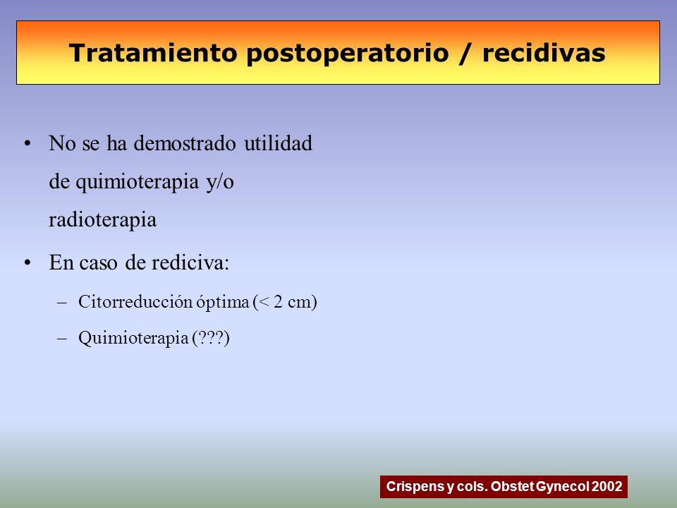 Tratamiento postoperatorio / recidivas