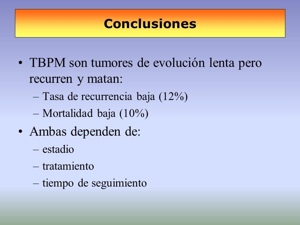 TBPM son tumores de evolución lenta pero recurren y matan: