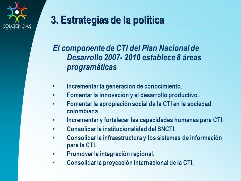 3. Estrategias de la política